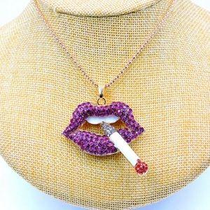 BETSEY JOHNSON~ SMOKIN' LIPS Necklace